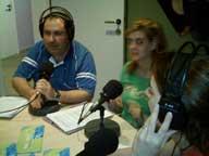 Andrés y Joaquina en la radio